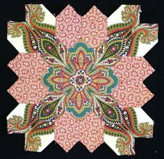 Lucy Boston Block 15 by Muriel for the POTC Blog Along at Little Quilts