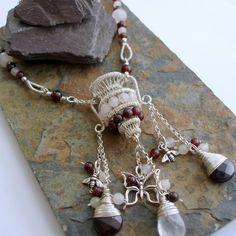 Vase Aquarius, grenat et collier en argent Sterling quartz Rose