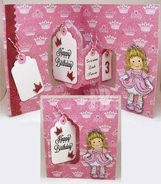 Frances Byrne using the Pop it Ups Tags Pivot Card by Karen Burniston for Elizabeth Craft Designs. - Sweet Little Princess