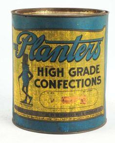 Large 10lb. Planters Peanut Tin