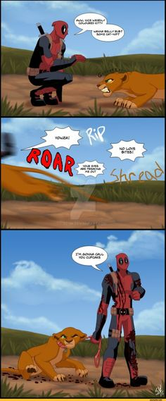 Deadpool Breaking the 4th Wall into the Disney Universe