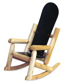 Snowboard Rocking Chair