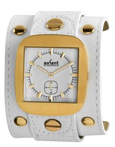 Axcent Rocker Ladies Watch, I dig it Cool Watches, White Leather, Clock, Lady, Womens Fashion, Accessories, Jewelry, Outfits, Style