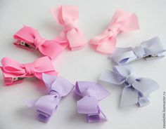 Купить Заколки для девочки набор из 8 шт сиреневые и розовые - сиреневый, бледно-сиреневый, розовый
