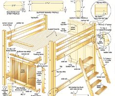 woodworking bed plans - free furniture plans