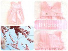 Cueiro riscas cor de rosa de flanela - Pink striped diaper in flannel fabric
