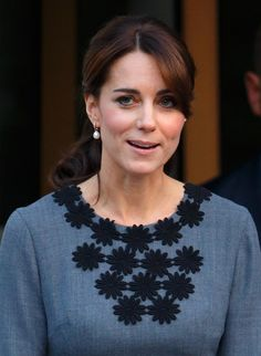 Pin for Later: These Are the Earrings That Kate Middleton Wears With Everything October 2015 Attending Chance UK's Early Intervention Program.