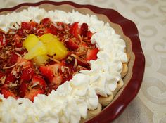 Hawaiian Strawberry Pie by ItsJoelen, via Flickr.  I plan on making this one for my friends birthday. It was the pie of the month at Bakers Square last month and not available anymore :0(