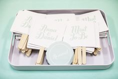 cute idea for fans during the reception :)