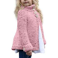 Cheap kids cardigan, Buy Directly from China Suppliers:Girl's plain-coloured knit sweater cardigan MUQGEW Toddler Kids Baby Girls Outfit Clothes Button Knitted Sweater Cardigan Coat Free Baby Sweater Knitting Patterns, Knitting Help, Knit Baby Sweaters, Easy Knitting, Knit Patterns, Free Childrens Knitting Patterns, Baby Knits, Knitting For Kids, Toddler Sweater