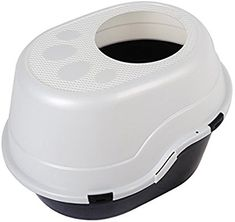 Favorite Large Top Entry Enclosed Hooded Cat Litter Box, Black and White -- Visit the image link more details. (This is an affiliate link) Bottle Washer, Litter Box, Washing Machine, Pet Supplies, Hoods, Home Appliances, Black And White, Cats, Amazon