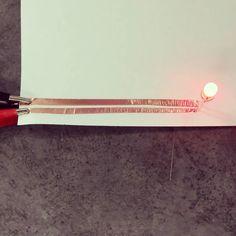 Learning that soft circuiting with copper tape and paper.  #jt #joaquintriste #make #maker #arduino #3d #3dprinting #technology #science #nerd #woodshop #workshop #woodworker #art #artist #fashion #furniture #design #designer #interiordesign #oc #la #socal by joaquintriste