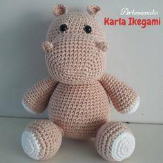 Amigurumi Crochet Sevimli Hipopotam Free Pattern Yapılışı Free Pattern, Hello Kitty, Crochet Patterns, Cross Stitch, Crochet Hats, Cute, Crafts, Animals, Camilla