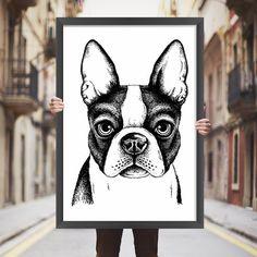 Placa decorativa bulldog - StickDecor | Decoração Criativa