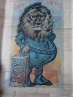 Lion coffee bamboo tray Lion Coffee, Coffee Drinks, Bamboo, Tray, Inspiration, Animals, Vintage, Decor, Biblical Inspiration