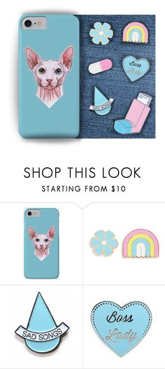 """""""Cute accessories"""" by savousepate ❤ liked on Polyvore featuring Big Bud Press, Stay Home Club, Pink, Blue, case, pins and accessory"""