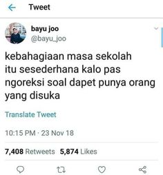 Quotes Lucu, Jokes Quotes, Funny Quotes, Memes Humor, Funny Humor, Memes Funny Faces, Funny Tweets, Tweet Quotes, Twitter Quotes