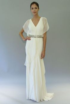 Helena by Carolina Herrera-for more mature brides...She should have used a lovely, older model...duh