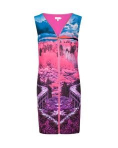 Road to nowhere print dress - Mid Pink   Dresses   Ted Baker