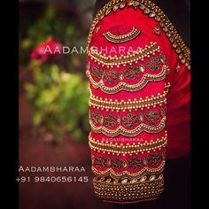 Pattu Saree Blouse Designs To Rock Your Desi Bridal Look - Tikli Blouse Back Neck Designs, Hand Work Blouse Design, Stylish Blouse Design, Aari Work Blouse, Pattu Saree Blouse Designs, Wedding Saree Blouse Designs, Fancy Blouse Designs, Wedding Sarees, Sari Design