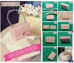 Handbag Cupcake Topper Pictorial