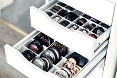 Make storage. Drawer organiser for Ikea Alex drawer
