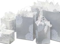 Silver Wedding Gift Bags