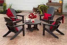 American Made Outdoor Furniture Polywood Adirondack Chair Set