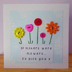 sister birthday card special sister sister thankyou card