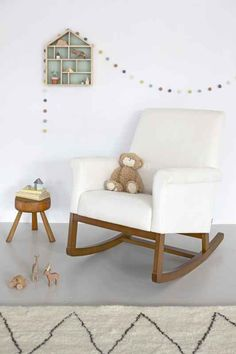 Exceptionnel Olli Ella Ro Ki Rocker Nursing Chair   Snow With Natural