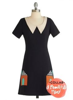 could be achieve on a simple black dress with appliqué