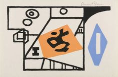 """""""Ivy League"""", 1953, Stuart Davis, American (1894-1964), silkscreen on paper, 6 x 9 in. Museum purchase with funds from the Benefactors Fund, 1978. 1978.2509"""