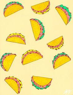 herrokittykat: Taco Flavored Keeses Ink, marker, & Sharpie...