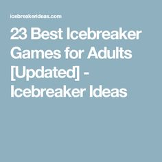 23 Best Icebreaker Games for Adults [Updated] - Icebreaker Ideas Sentence Starters (and others) Fun Icebreaker Games, Youth Games, Adult Games, Activity Games, Fun Games, Games To Play, Party Games, Icebreaker Questions, Leadership Activities