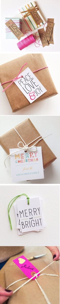 Merry + Bright Gift Wrapping