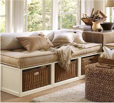 Great alternative to a couch! Pottery Barn