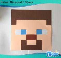 Minecraft Crafts, Bolo Minecraft, Steve Minecraft, Mine Craft Party, 7th Birthday, Birthday Cards, Minecraft Birthday Card, Easy Canvas Art, Mini Craft