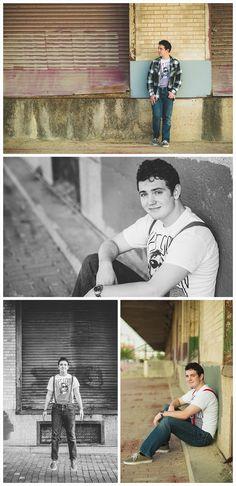 Senior portrait ideas, senior portrait photography, senior images, senior session, boy pose, male senior, guy senior, senior poses, creative, unique, downtown, grunge, suspenders, flannel shirt, fun