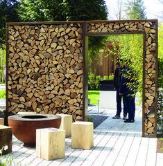 Herb Garden Design, Garden Landscape Design, Shed Design, Fence Design, Outdoor Firewood Rack, Firewood Storage, Wood Store, Wood Shed, Home Landscaping