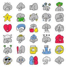 Illustrator NippashiはInstagramを利用しています:「ゾウのまるみのLINE絵文字です(^^) パオ〜ん  スタンプショップの絵文字コーナーで「ゾウのまるみ」と検索してもらえるとでてきます!つかってね〜⤴︎⤴︎ ... #lineスタンプ #ラインスタンプ #イラスト #ゾウ #絵 #スタンプ #癒し…」 Japanese, Comics, Illustration, Instagram, Japanese Language, Illustrations, Cartoons, Comic, Comics And Cartoons