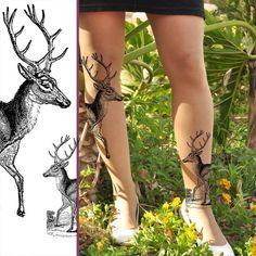 Deer tattoo pantyhose.  Gonna get me a redneck.