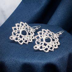 Regency lace earrings in silver - by Ruth Mary Jewellery
