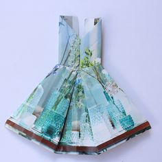 Origami dress making - Jessica Jury   west elm