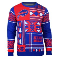 Buffalo Bills Patches Style Ugly Sweater