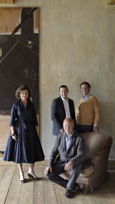 Axel Vervoordt and familie. Interior Garden, Office Interior Design, Exterior Design, Axel Vervoordt, Classy People, Are You Bored, Grisaille, Design Department, How To Speak French