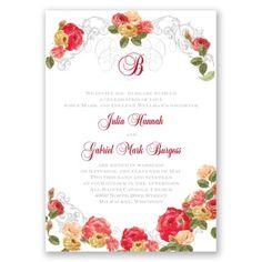 Royal Garden Wedding Invitations at Invitations By Dawn