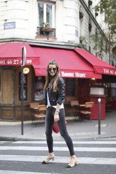 5, bartabac, blog, blogger, fashion, red, jeans, perfecto jacket, paris,