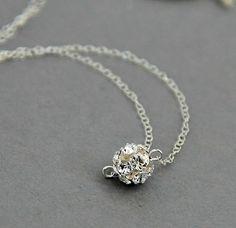 Bridal+party+necklace.+Silver+Swarovski+by+LavenderByJurgita,+$32.00