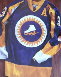 Vintage hockey jersey with ice skate and sun logo 0fc83d8ad