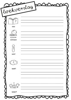 boekverslag Montessori, Teaching First Grade, Teacher Education, Close Reading, School Hacks, Home Schooling, Primary School, Creative Writing, Fun Learning
